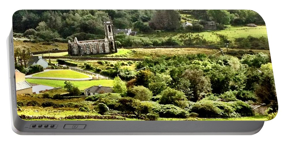 Poisoned Glen Portable Battery Charger featuring the photograph The Green Valley Of Poisoned Glen by Charlie and Norma Brock