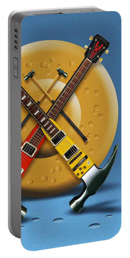 Rock And Roll Portable Battery Charger featuring the photograph The Hammer by Mike McGlothlen