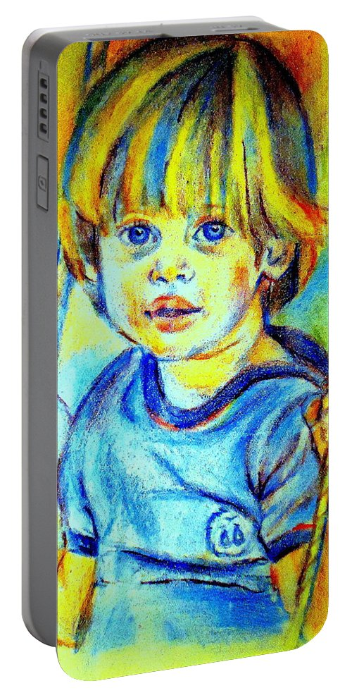 Child Portable Battery Charger featuring the drawing The Hammock by Helena Wierzbicki