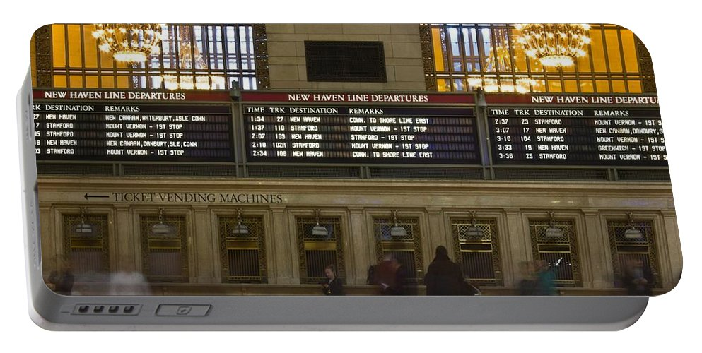 Railroads Portable Battery Charger featuring the photograph The Hartford Line by Kathleen Odenthal