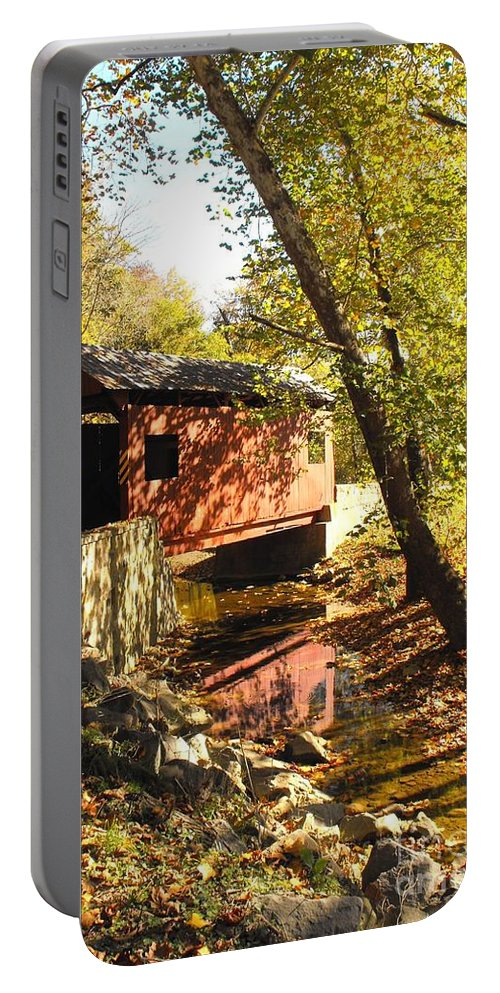 Covered Bridge Portable Battery Charger featuring the photograph The Henry Bridge 2 by Spencer McKain