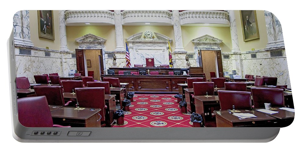 Photography Portable Battery Charger featuring the photograph The Historic House Chamber Of Maryland by Panoramic Images