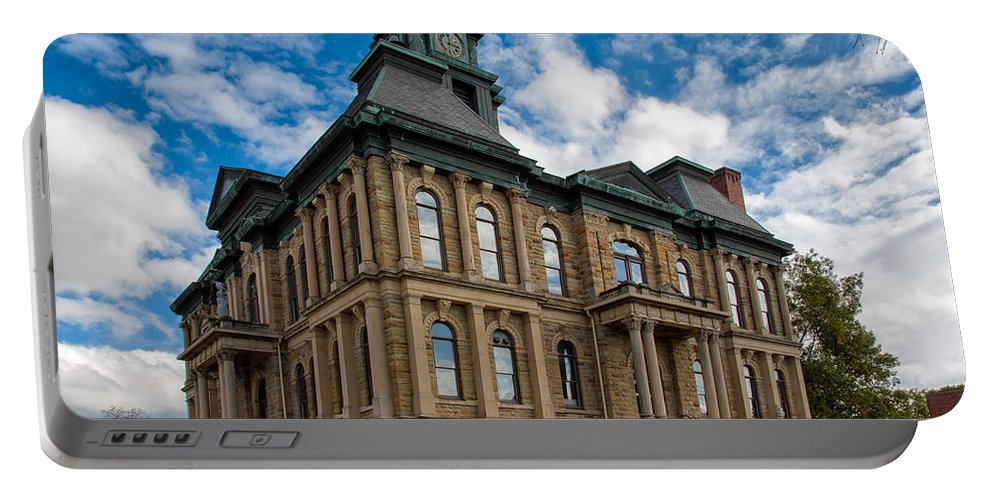 Architecture Portable Battery Charger featuring the photograph The Holmes County Courthouse by John M Bailey