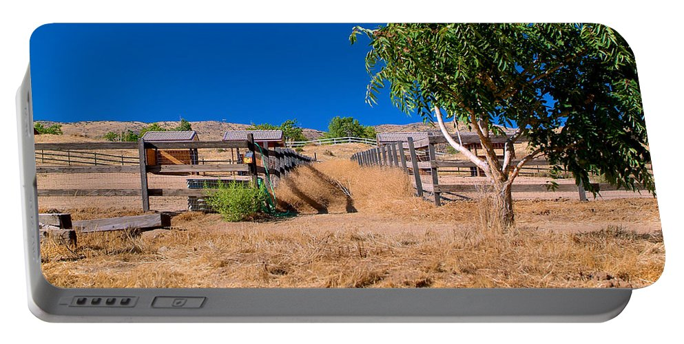 Horse Portable Battery Charger featuring the photograph The Horse Ranch by Richard J Cassato