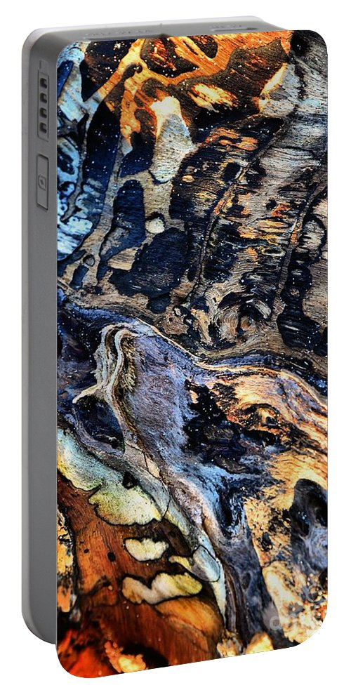 Abstract Portable Battery Charger featuring the photograph The Howling by Lauren Leigh Hunter Fine Art Photography