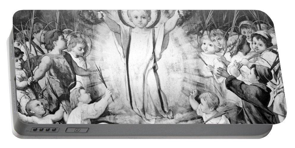 Jesus Portable Battery Charger featuring the photograph The Infant Jesus by Munir Alawi