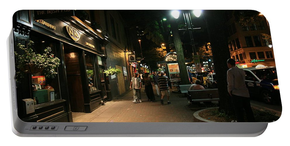 The Irish Pub Portable Battery Charger featuring the photograph The Irish Pub by Robert Loe