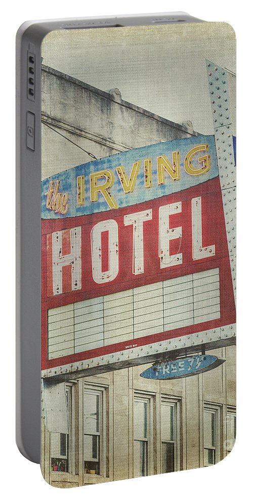 Irving Hotel Portable Battery Charger featuring the photograph The Irving Hotel In Chicago by Emily Kay