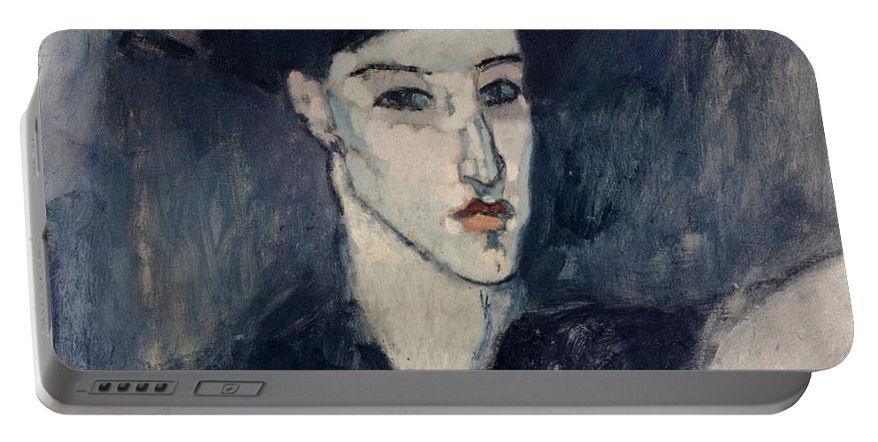 Modigliani Portable Battery Charger featuring the painting The Jewess by Amedeo Modigliani
