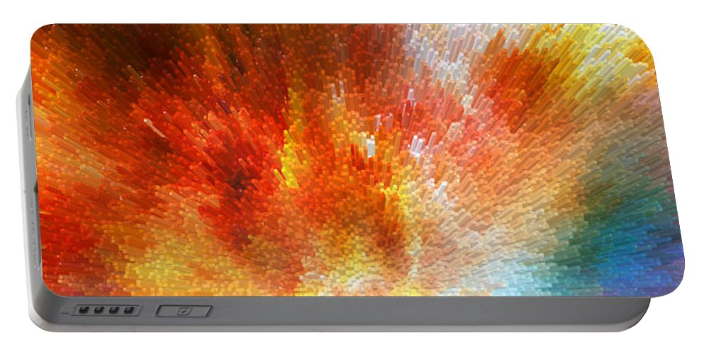 Sharon Cummings Portable Battery Charger featuring the painting The Journey - Abstract Art By Sharon Cummings by Sharon Cummings