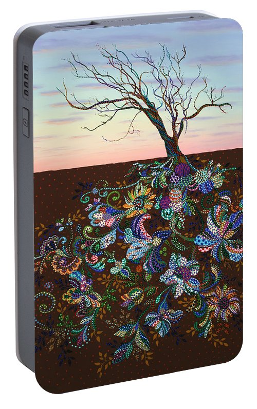 Tree Portable Battery Charger featuring the painting The Journey by James W Johnson