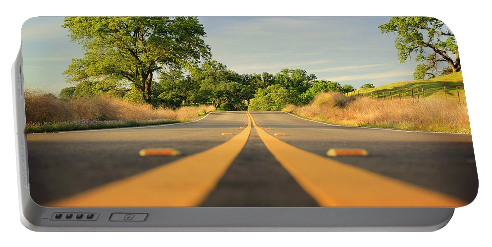 Road Portable Battery Charger featuring the photograph The Journey by Shawn McMillan