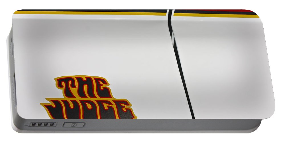 Car Portable Battery Charger featuring the photograph The Judge1969 Pontiac Gto by Linda Bianic