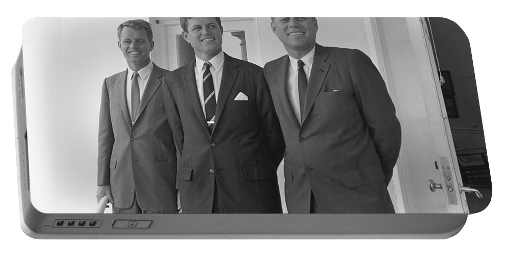 Jfk Portable Battery Charger featuring the photograph The Kennedy Brothers by War Is Hell Store
