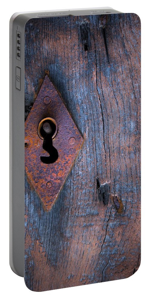 Wooden Texture Portable Battery Charger featuring the photograph The Key by Edgar Laureano