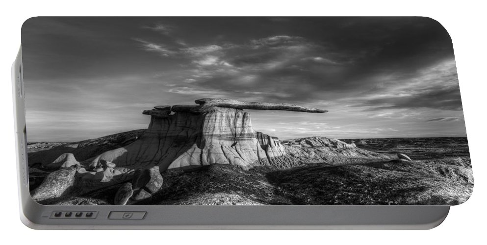 King Of Wings Portable Battery Charger featuring the photograph The King Of Wings Monochrome by Bob Christopher