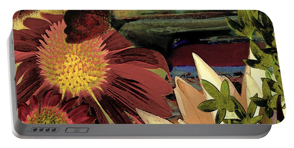 Flowers Portable Battery Charger featuring the digital art The Lamp by Paul Gentille