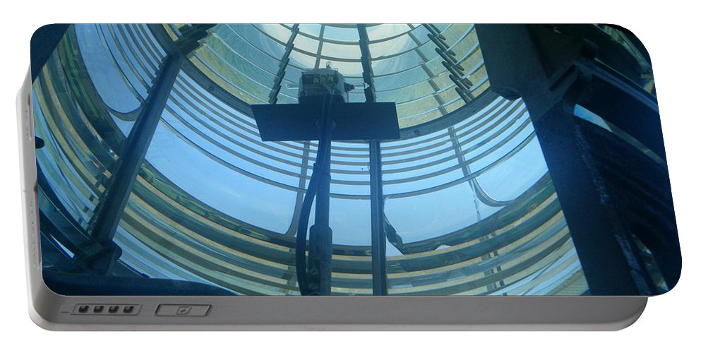 Lighthouse Portable Battery Charger featuring the photograph The Lantern Room by April Patterson