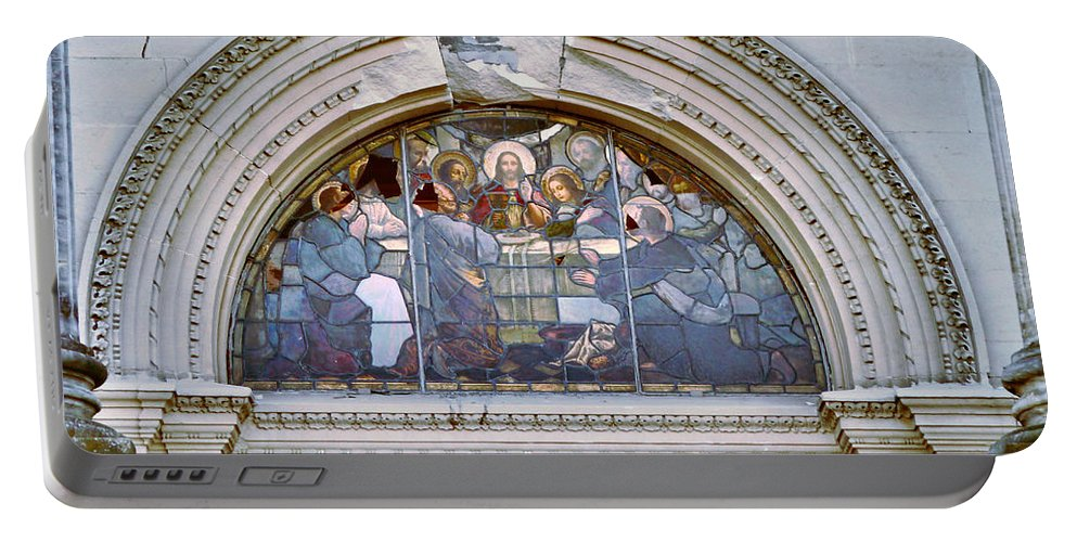 Cathedral Of The Blessed Sacrament Portable Battery Charger featuring the photograph The Last Supper by Steve Taylor