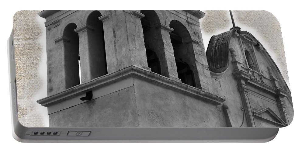 San Carlos Mission Portable Battery Charger featuring the photograph The Light by Marianne Jimenez
