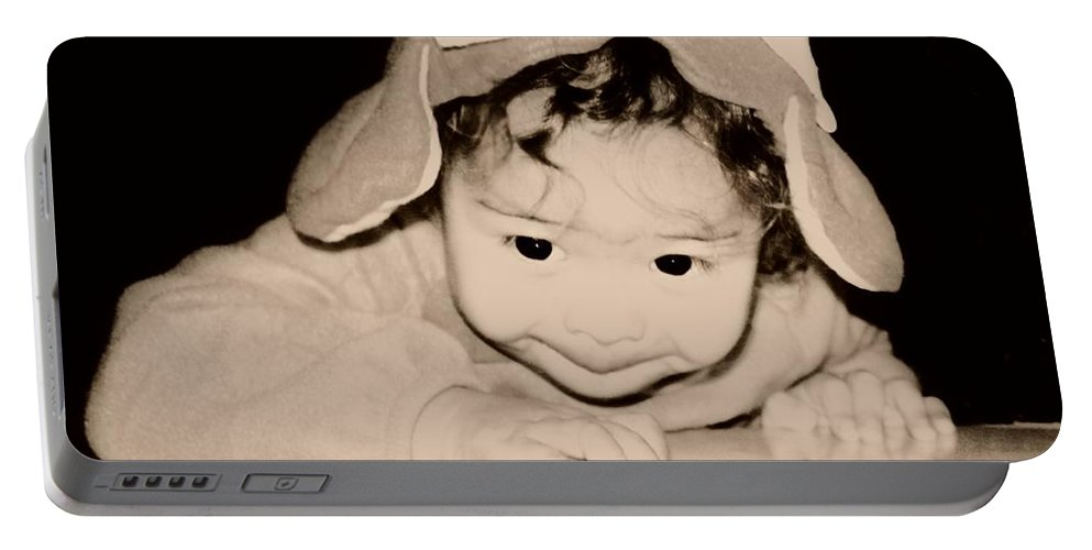 Children Portable Battery Charger featuring the photograph The Little Gremlin by Jessica Shelton