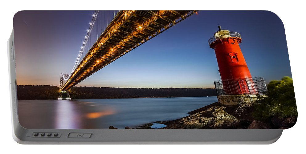 Horizontal Portable Battery Charger featuring the photograph The Little Red Lighthouse by Mihai Andritoiu
