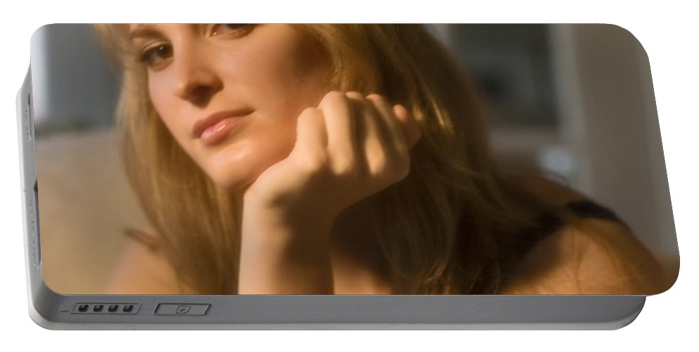 Portrait Portable Battery Charger featuring the photograph The Look 8 by Madeline Ellis