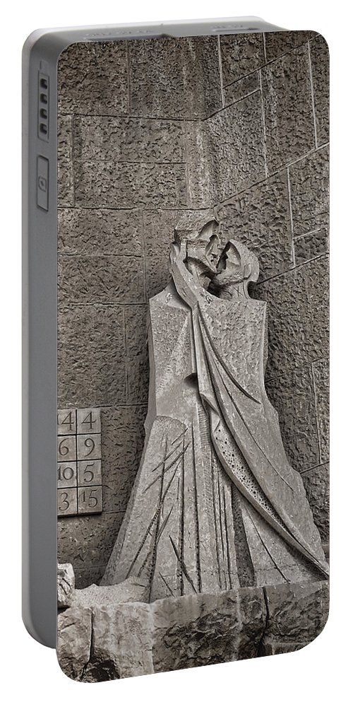 Passion Facade Portable Battery Charger featuring the digital art The Magic Square by Anita Hubbard