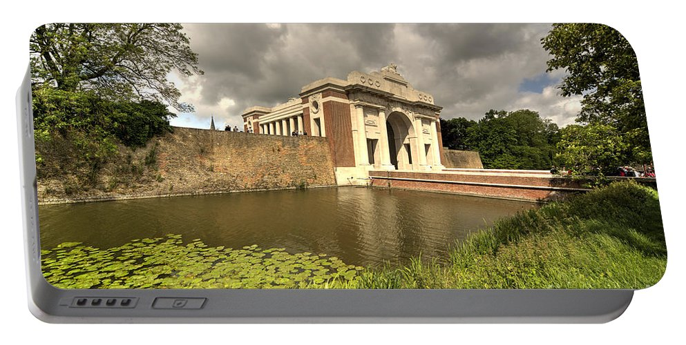 Menin Portable Battery Charger featuring the photograph The Menin Gate by Rob Hawkins