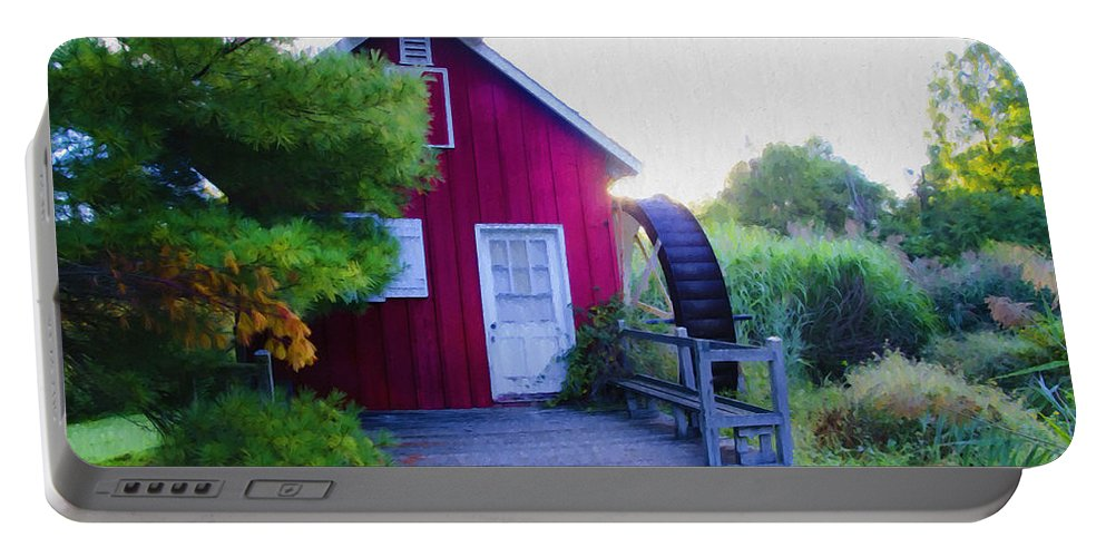 Kimberton Portable Battery Charger featuring the photograph The Mill At Kimberton by Bill Cannon