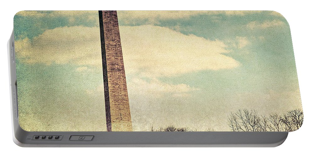 Washington Dc Portable Battery Charger featuring the photograph The Monumnet by Emily Kay