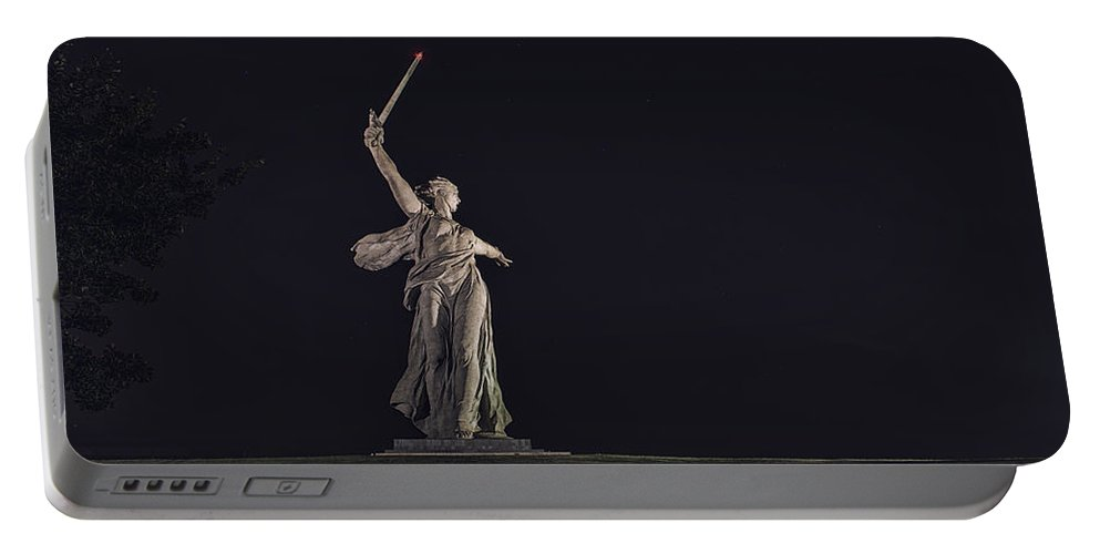 Landscapes Portable Battery Charger featuring the photograph The Motherland Calls. Stalingrad by Alexandr Marynkin