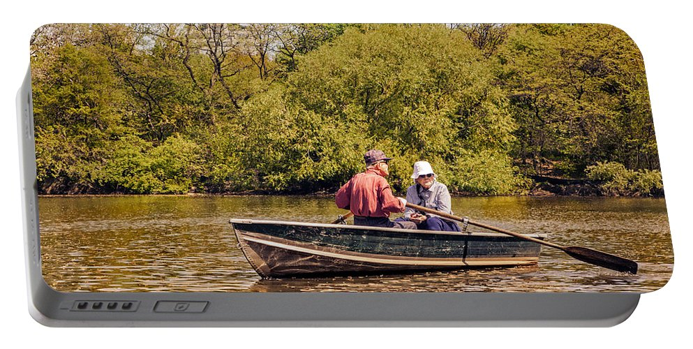 Seniors Portable Battery Charger featuring the photograph The Music Never Ends - Central Park Pond - Nyc by Madeline Ellis