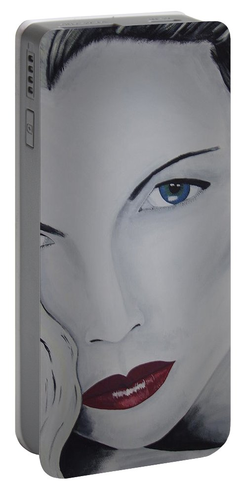Beauty Portable Battery Charger featuring the painting The Natural by Dean Stephens
