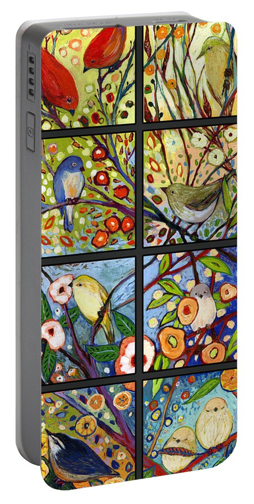 Bird Portable Battery Charger featuring the painting The NeverEnding Story Set of 12 a2 by Jennifer Lommers