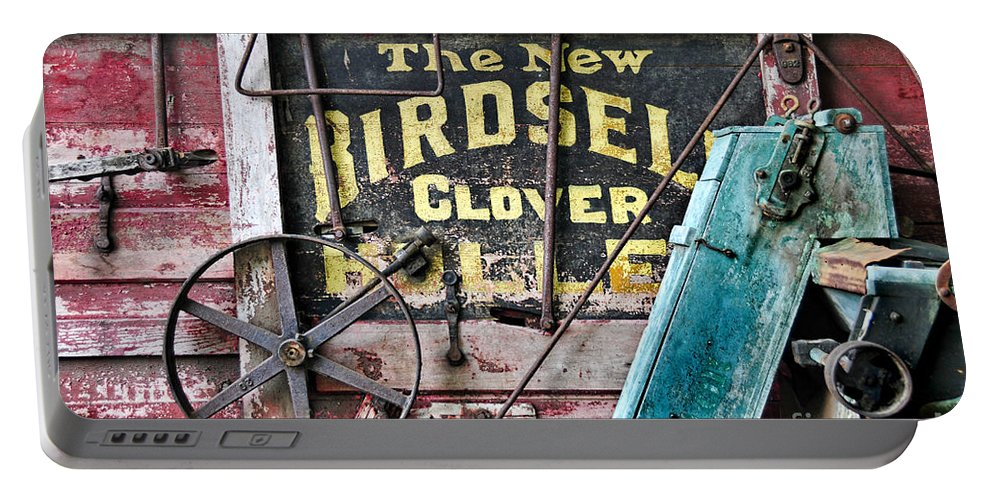 Farm Portable Battery Charger featuring the photograph The New Birdsell Clover Huller by David Arment