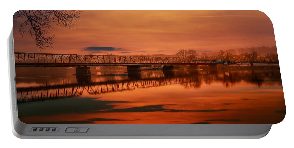 New Hope Portable Battery Charger featuring the photograph The New Hope Bridge by Bill Cannon