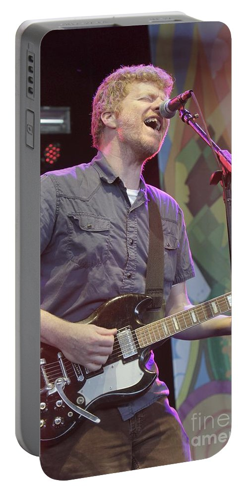 Guitar Portable Battery Charger featuring the photograph The New Pornographers by Concert Photos