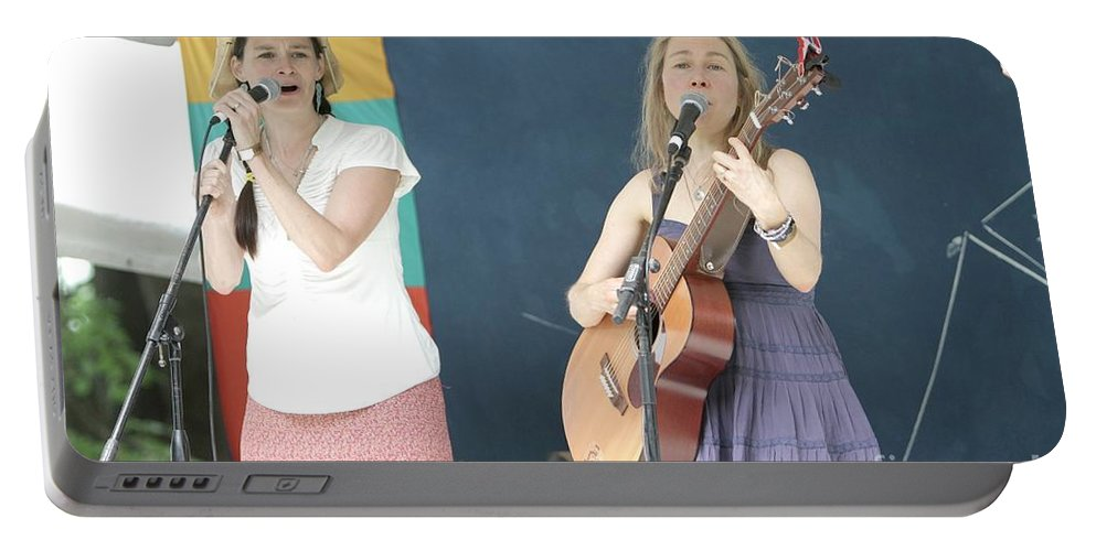 Acoustic Portable Battery Charger featuring the photograph The Nields by Concert Photos