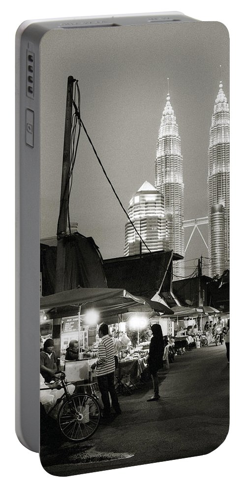 Kampung Baru Portable Battery Charger featuring the photograph The Night Market by Shaun Higson