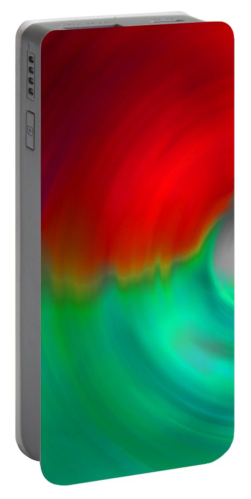 Vortex Portable Battery Charger featuring the digital art The No.1 Mental Issue by Marcello Cicchini