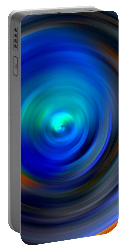 Vortex Portable Battery Charger featuring the digital art The No.1 Twirling by Marcello Cicchini