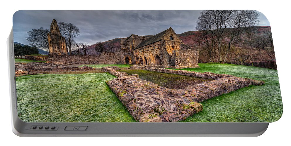 13th Century Portable Battery Charger featuring the photograph The Old Abbey by Adrian Evans
