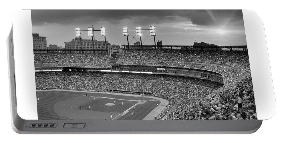 Detroit Portable Battery Charger featuring the photograph The Old Ballgame by Charles Owens