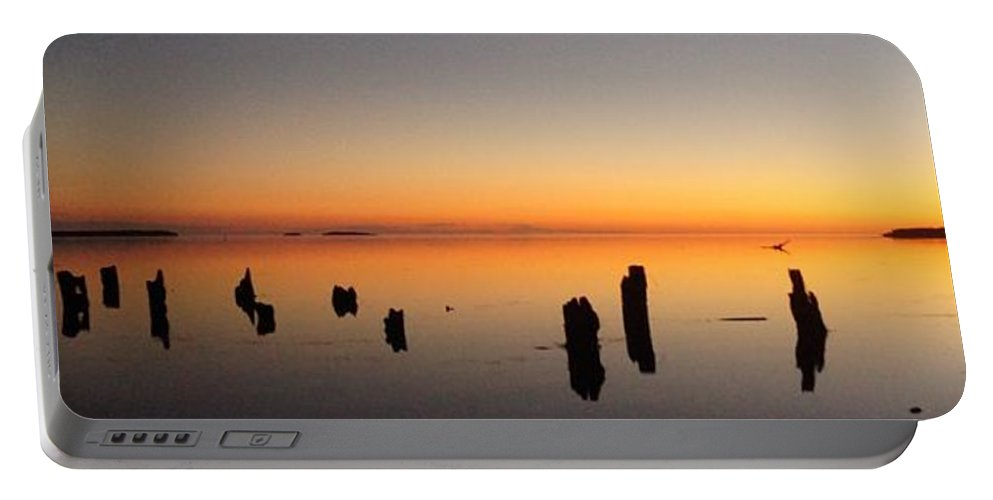Everglades Portable Battery Charger featuring the photograph The Old Dock At Sunset by John Wall