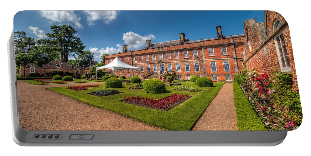 Stately Home Portable Battery Charger featuring the photograph The Old Hall by Adrian Evans