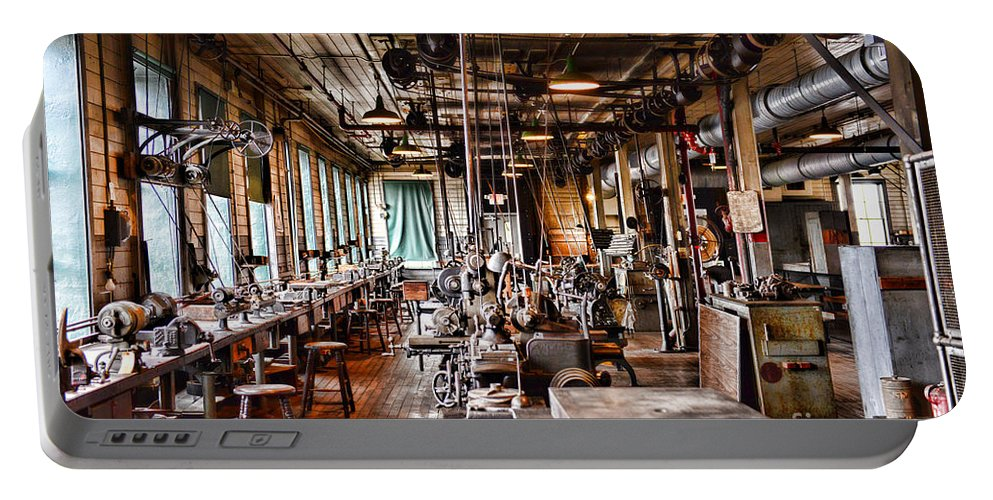 Paul Ward Portable Battery Charger featuring the photograph The Old Machine Shop by Paul Ward