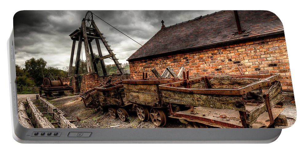 Coal Mine Portable Battery Charger featuring the photograph The Old Mine by Adrian Evans