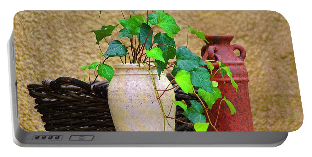 Vase Portable Battery Charger featuring the photograph The Old Times by Carolyn Marshall