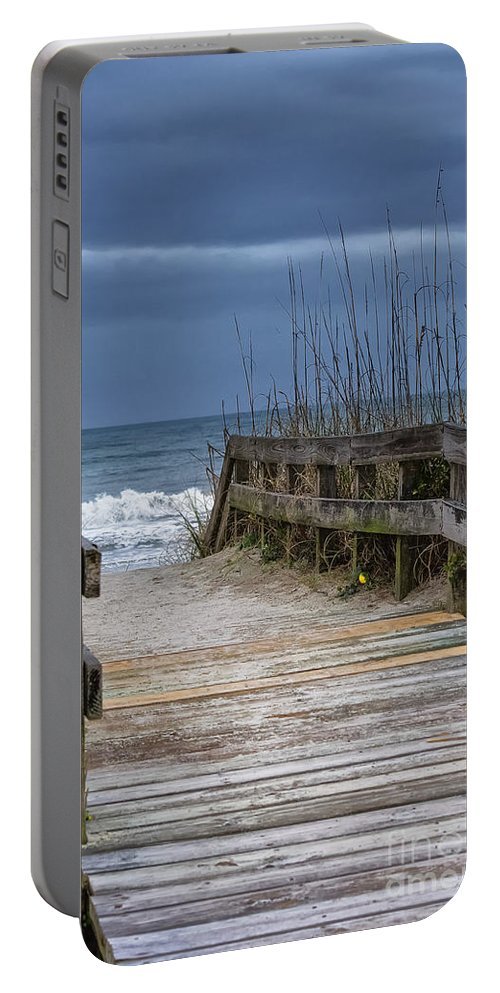 Beach Portable Battery Charger featuring the photograph The Old Walkway by Scott Hervieux